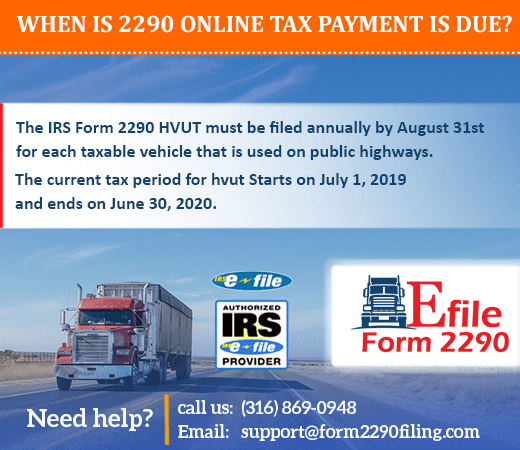 IRS form 2290 for 2019